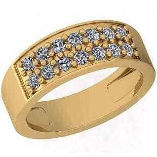 0.54 Ctw Diamond I2/I3 14K Yellow Gold Pendant