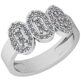 0.70 Ctw VS/SI1 Diamond 14K White Gold Ring
