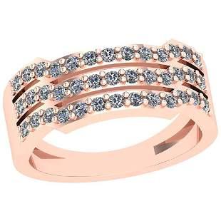 0.22 Ctw VS/SI1 Diamond 14K Rose Gold Ring