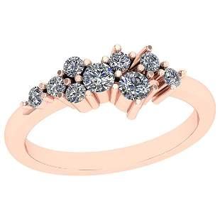 0.45 Ctw VS/SI1 Diamond 14K Rose Gold Eternity Ring
