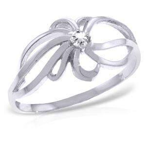 0.05 Carat 14K Solid White Gold Allegories Diamond Ring