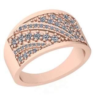 1.03 Ctw VS/SI1 Diamond 14K Rose Gold Ring