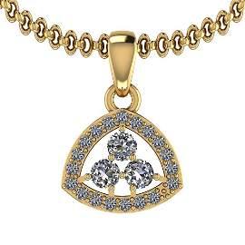 0.31 Ctw VS/SI1 Diamond 14K Yellow Gold Pendant