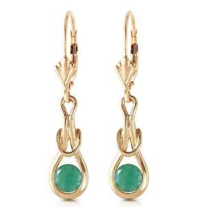1.3 Carat 14K Solid Gold Elysian Emerald Earrings