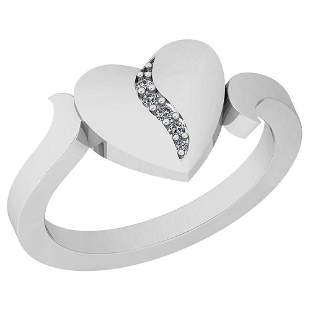 0.05 Ctw VS/SI1 Diamond 14K White Gold Ring