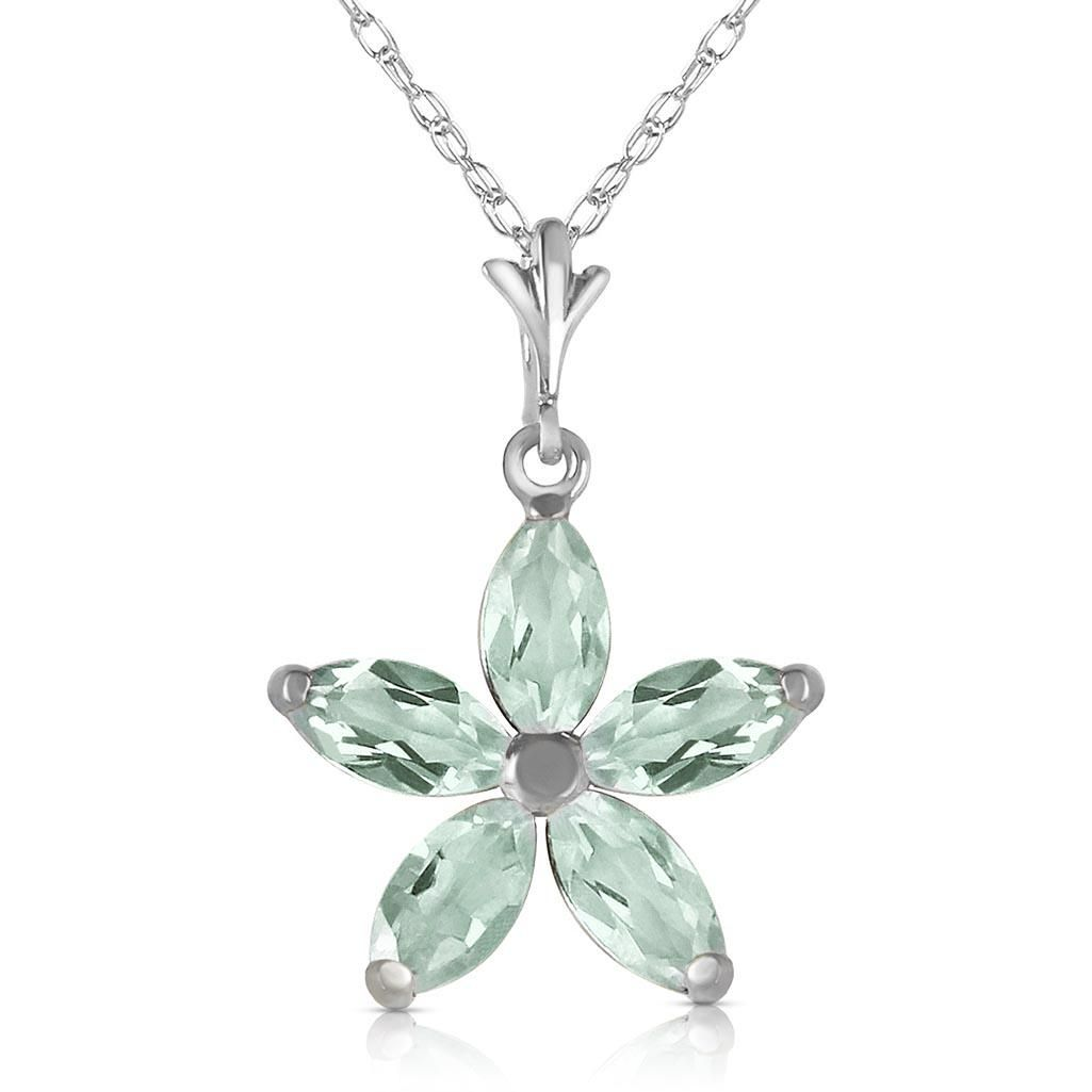 1.4 Carat 14K Solid White Gold Shall Be Again Green Ame