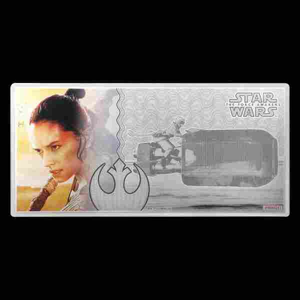 2019 5 gm Silver Note Star Wars The Force Awakens Rey w