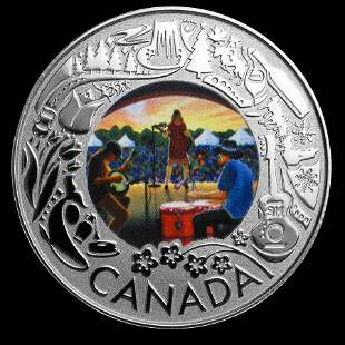 2019 RCM 1/4 oz Silver $3 Celebrating Canadian Fun: Fol