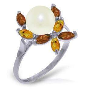 2.63 Carat 14K Solid White Gold Ring Natural Garnet, Ci