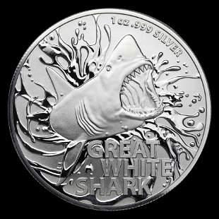 2021 Australia 1 oz Silver Great White Shark Uncirculat