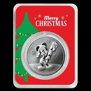 2020 Niue 1 oz Silver $2 Mickey Christmas in Christmas