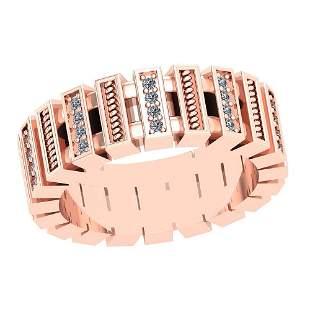 0.24 Ctw VS/SI1 Diamond 14K Rose Gold Ring