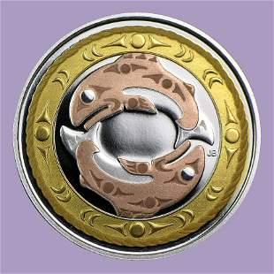 2010 Canada 1/4 oz Silver $3 Return of the Tyee (Gilded