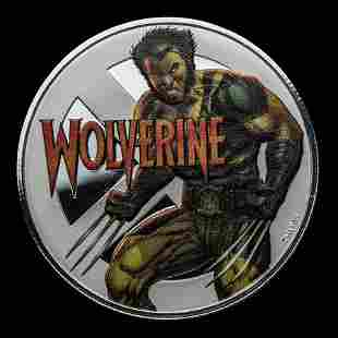2020 Fiji 1 oz Silver Wolverine Proof With Box & COA