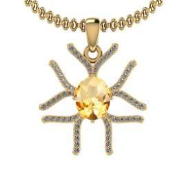 2.91 Ctw VS/SI1 Citrine And Diamond 10K Yellow Gold Nec
