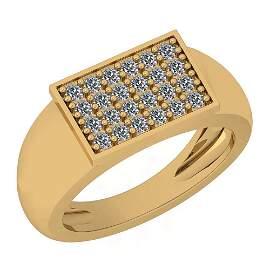 0.43 Ctw Diamond I2/I3 14K Yellow Gold Ring