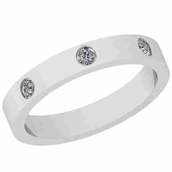 0.10 Ctw VS/SI1 Diamond 14K White Gold Eternity band Ri