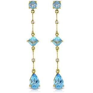 6.06 Carat 14K Solid Gold Chandelier Earrings Diamond B