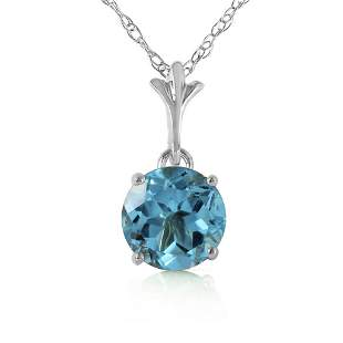 1.15 Carat 14K Solid White Gold Think Again Blue Topaz