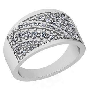 1.03 Ctw VS/SI1 Diamond 14K White Gold Ring