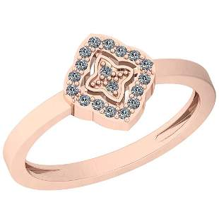 0.10 Ctw VS/SI1 Diamond 14K Rose Gold Eternity Ring
