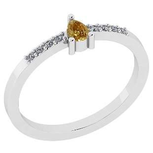 0.21 Ct Natural Yellow Diamond I2/I3And White Diamond I