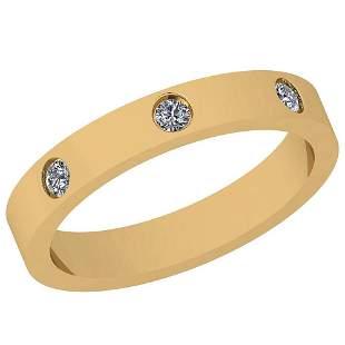 0.19 Ctw Diamond I2/I3 14K Yellow Gold Band Ring