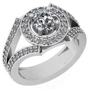 1.58 Ctw VS/SI2 Diamond 14K White Gold Halo Ring