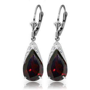 10 Carat 14K Solid White Gold Leverback Earrings Natura