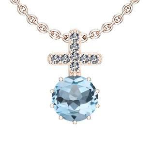 Certified 59.03 Ctw I2/I3 Blue Topaz And Diamond 14K Ro