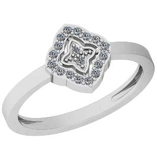 0.10 Ctw VS/SI1 Diamond 14K White Gold Eternity Ring