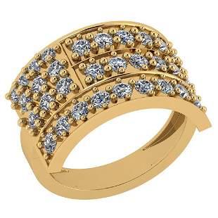1.25 Ctw VS/SI1 Diamond 14K Yellow Gold Ring