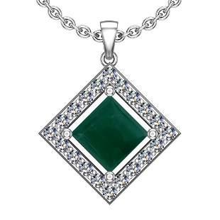 9.95 Ctw VS/SI1 Emerald And Diamond Platinum Pendant