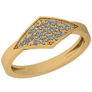0.16 Ctw VS/SI1 Diamond 14K Yellow Gold Ring