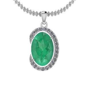 4.23 Ctw Emerald And Diamond I2/I3 14K White Gold Victo