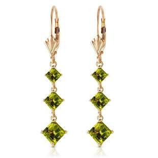 4.79 Carat 14K Solid Gold Chandelier Earrings Peridot