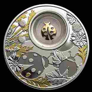 2020 Republic of Cameroon Silver Proof Lucky Ladybug Co