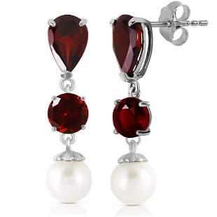 10.5 CTW 14K Solid White Gold Chandelier Earrings Garne