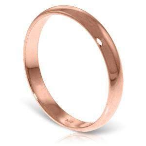 14K Solid Rose Gold Wedding Ring 3.0 mm Wide