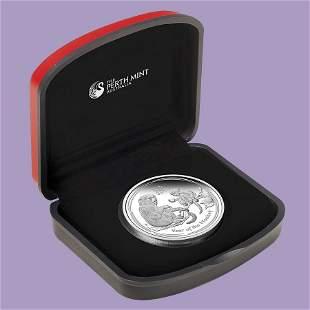 2016 Australia 1 oz Silver Lunar Monkey Proof (w/Box &
