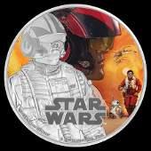 Collectible Star Wars Poe Dameron 2016 Niue 1 oz Silver