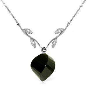15.52 Carat 14K Solid White Gold Necklace Diamond Twist