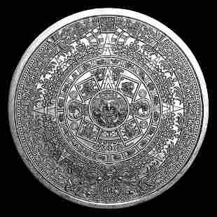 Silver Bullion 1 oz Aztec Calender Round .999 fine