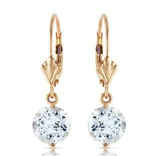 3.1 Carat 14K Solid Gold Prettygirl Aquamarine Earrings
