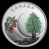 2018 Canada 1/4 oz Silver $3 Thirteen Teachings Raspber