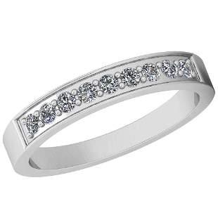 0.25 Ctw Diamond I2/I3 14K White Gold Eternity Band Rin