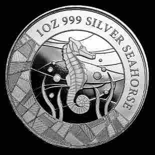 2018 Samoa 1 oz Silver Seahorse Uncirculated