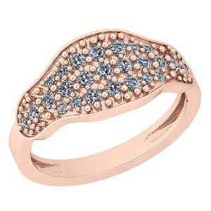 0.47 Ctw VS/SI1 Diamond 14K Rose Gold Ring