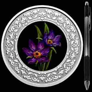 Collectible Floral Emblems - Manitoba: Prairie Crocus 2