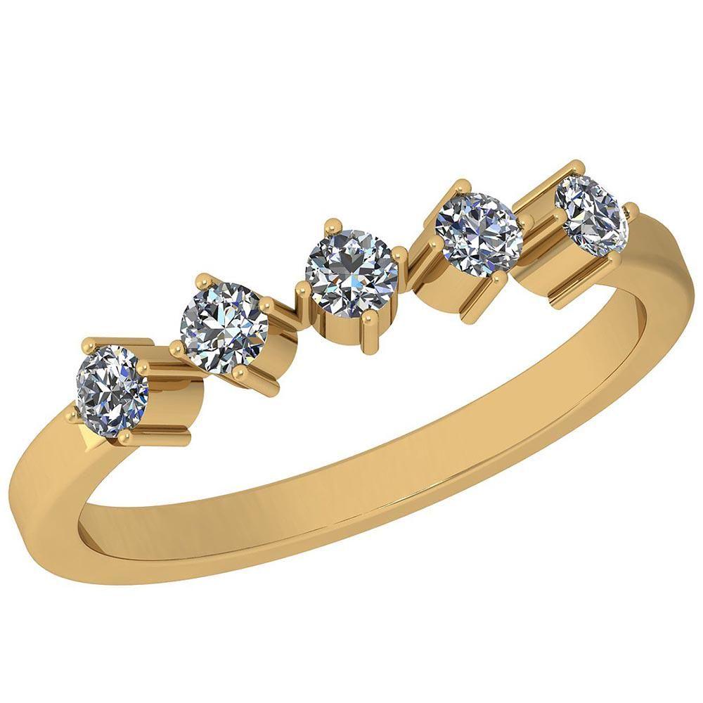 0.34 Ctw Diamond I2/I3 14K Yellow Gold Eternity Band Ri